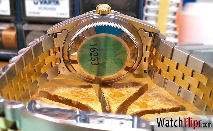 Rolex Caseback Green Hologram Sticker