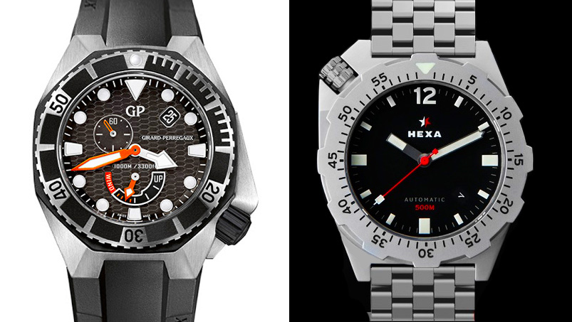 Girard-Perregaux Seahawk vs. Hexa Watches K500