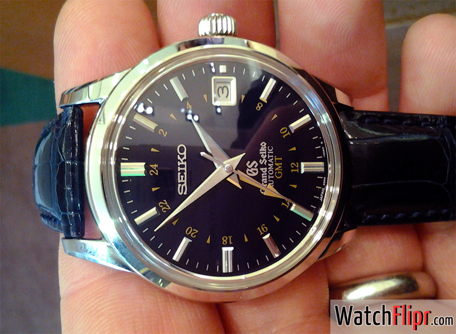 Grand Seiko GMT SBGM031 Blue Dial Watch Caliber 9S66