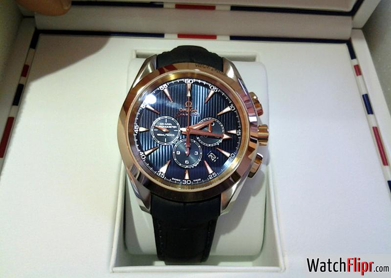 Omega Aqua Terra Chronograph London Olympics 2012 522.23.44.50.03.001