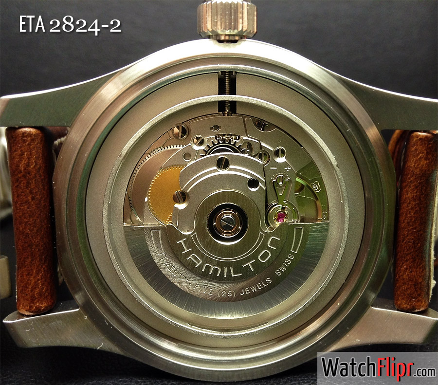 ETA 2824-2 movement in a Hamilton Khaki watch