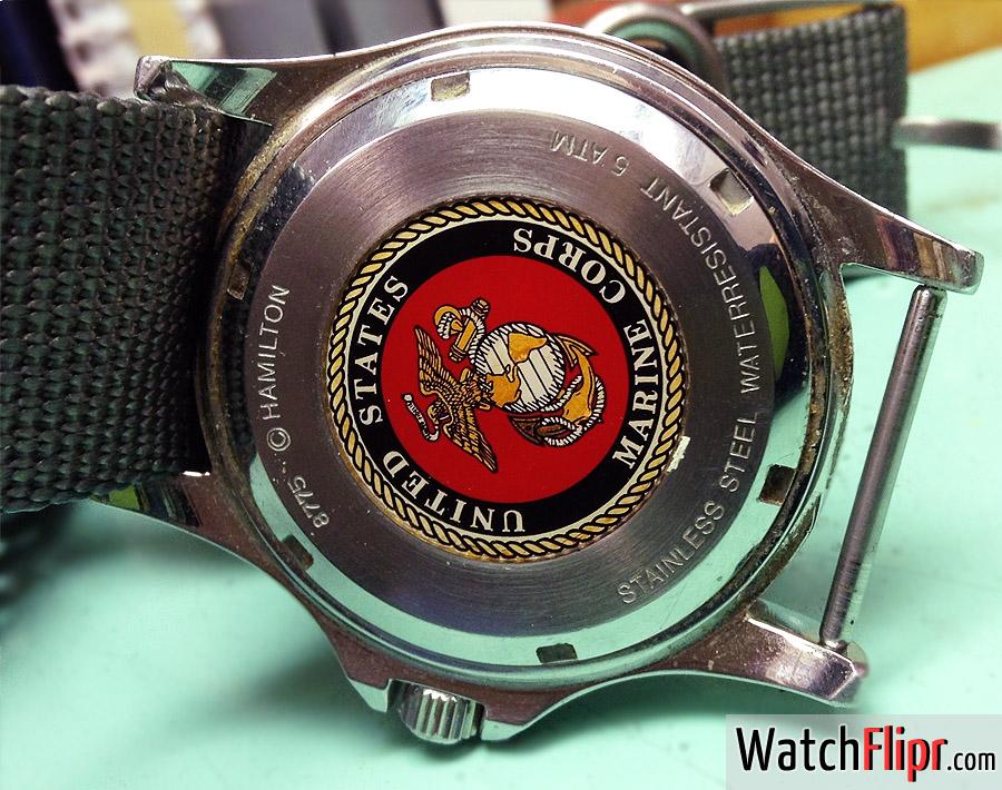 Hamilton Khaki 8775 Vintage USMC United States Marine Corps Watch