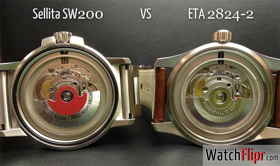 Sellita SW200 vs ETA 2824-2