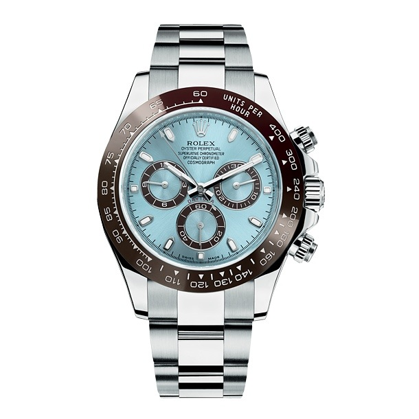 New Rolex Daytona platinum blue dial
