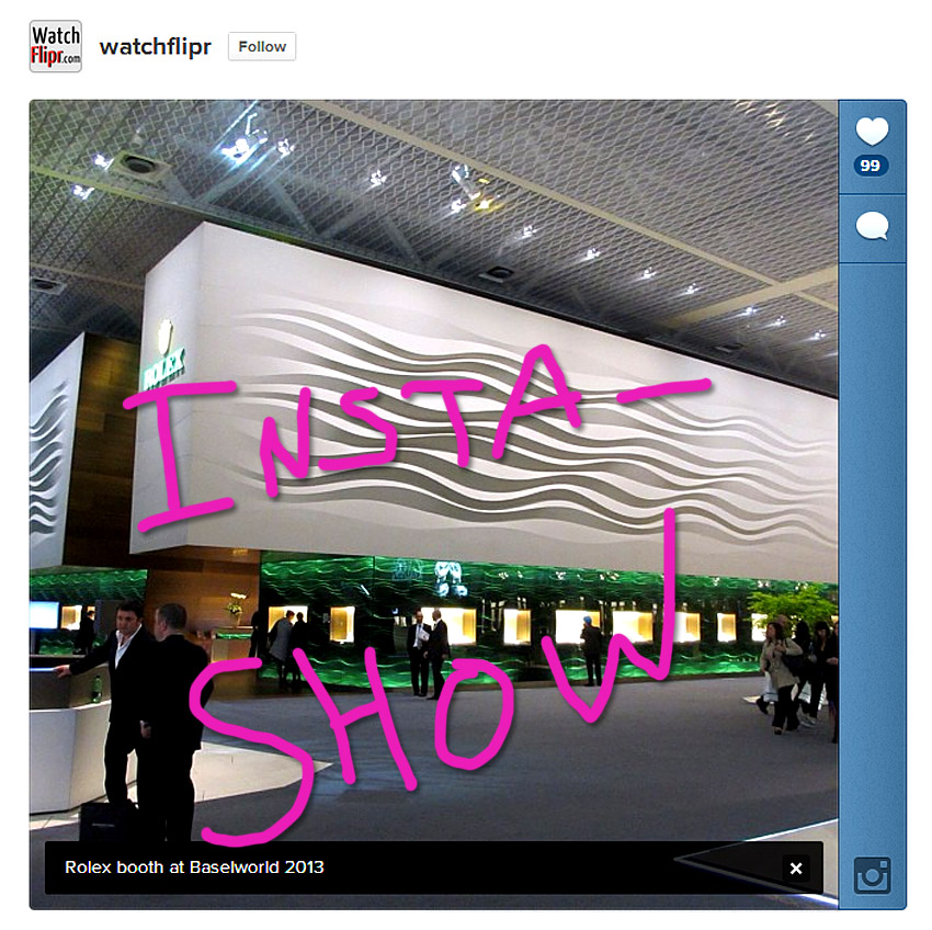Instashow Instagram Baselworld