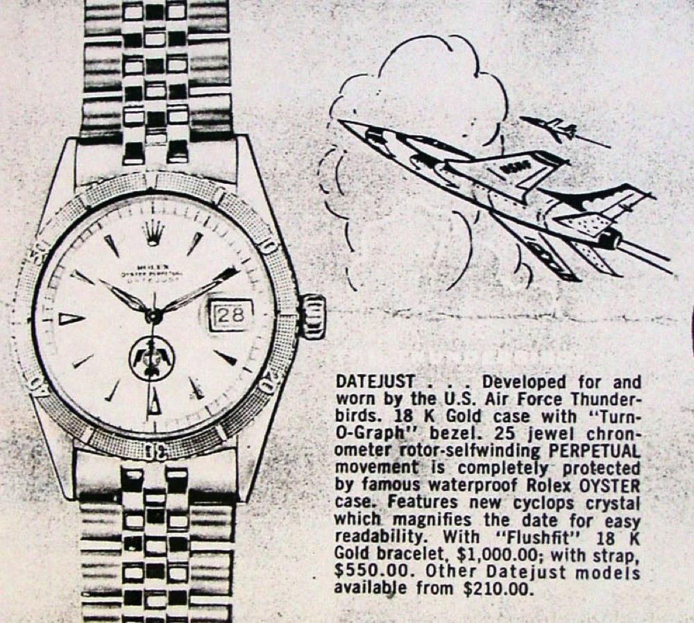 Vintage Rolex Thunderbird Ad