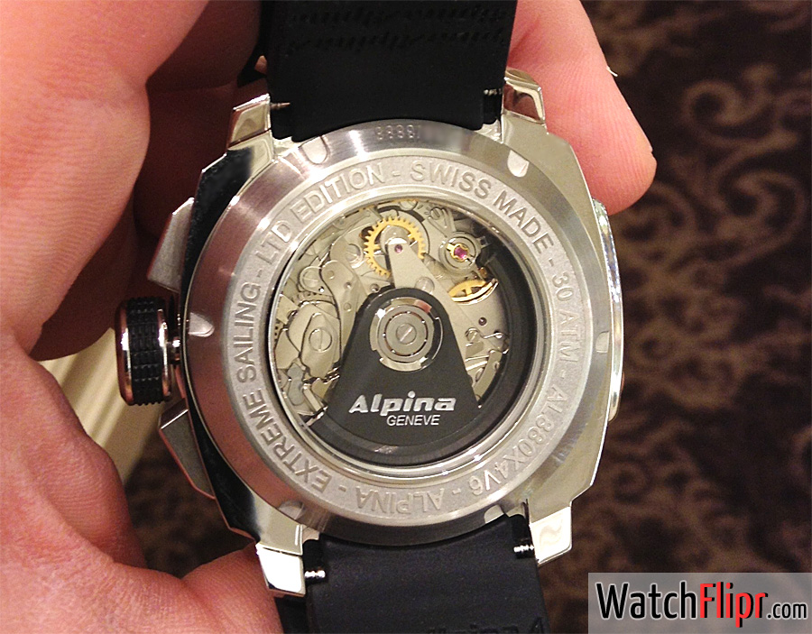 Alpina Adventure Extreme Regatta Yachtimer Men's Automatic Chronograph Watch AL-880LB4V6 Movement Caseback