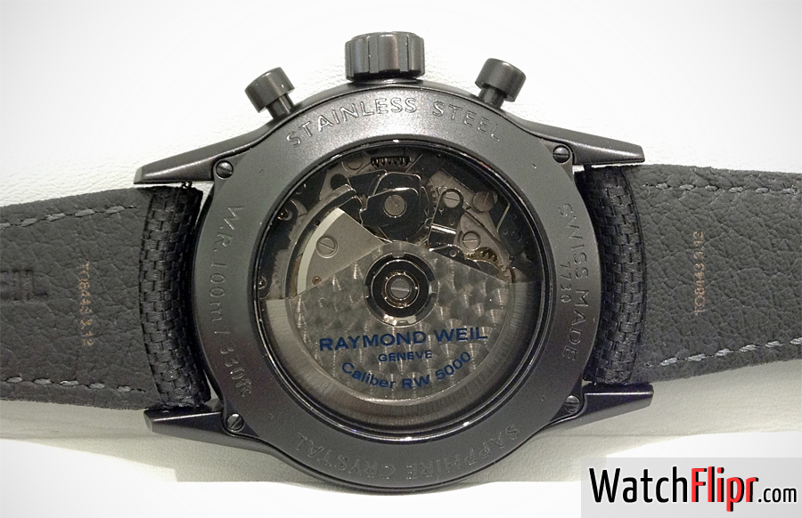 Freelancer Automatic chronograph Urban Black 7730-BK-05207 Caseback Movement