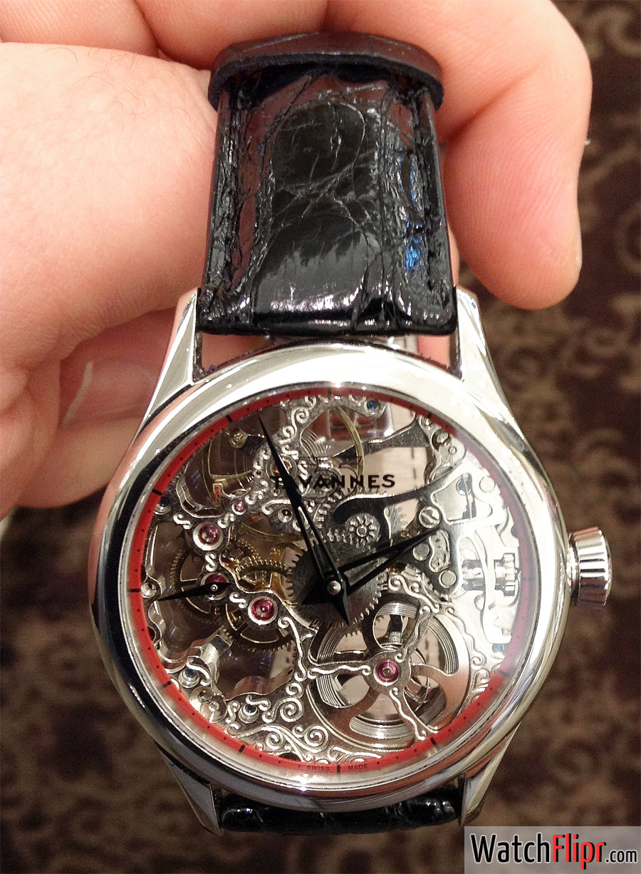Tavannes TA-VON Skeleton Dial Watch TA M02.103/ST02