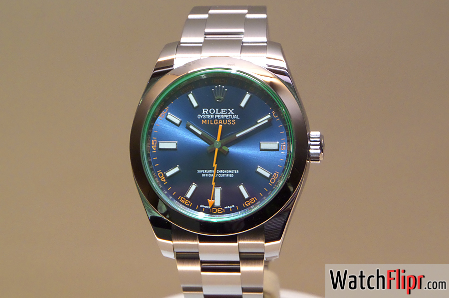 Rolex Blue Dial Milgauss Basel 2014