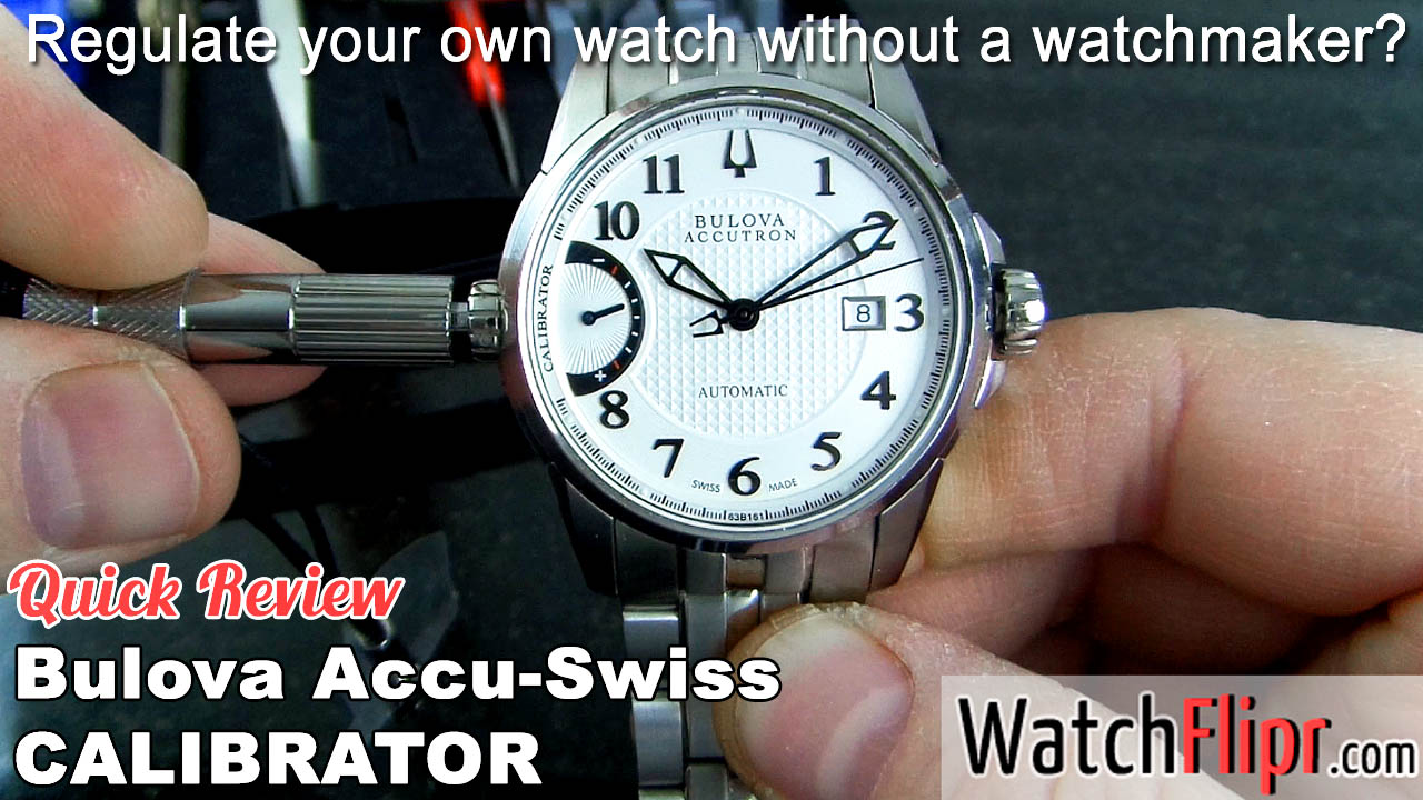 Bulova Accutron Calibrator Watch 63B161 Video Review