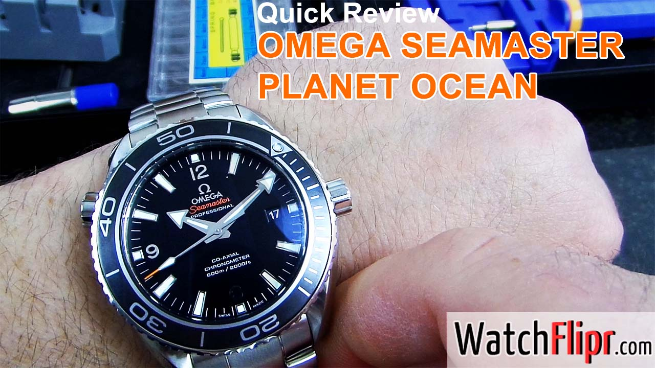 Omega Planet Ocean XL Video Review by WatchFlipr.com